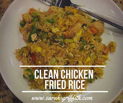 chicken fried rice, 30 minute meals, healthy chicken fried rice, chicken fried rice, 21 day fix approved, clean cooking, sarah griffith, top beachbody coach state college,