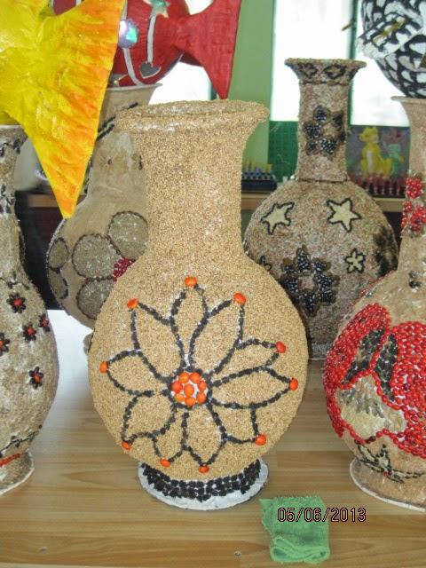 latest jarrn con semillas de guayaba pepino y chocho jarrones decorados with jarrones decorados - Jarrones Decorados