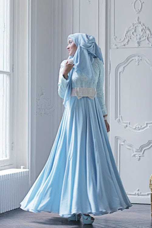 Trend model gaun pesta Muslimah 2014