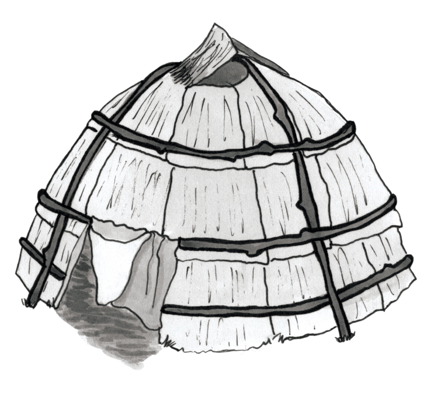 native american longhouse coloring pages - photo#2