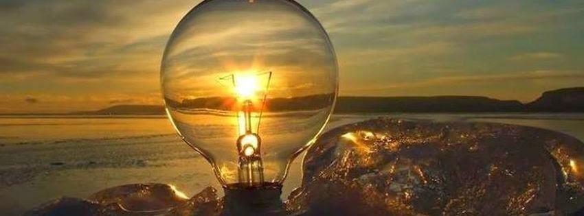 Couverture facebook lampe avec soleil