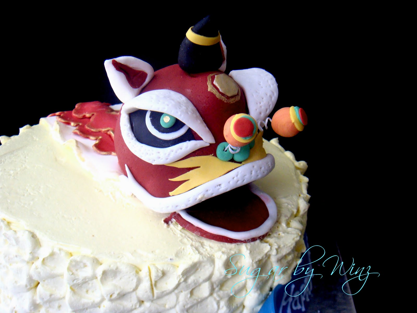 Lion Dance Birthday Cake Image Inspiration of Cake and Birthday