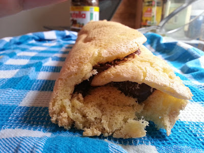from my mom's cookbook: nutella and coconut roll