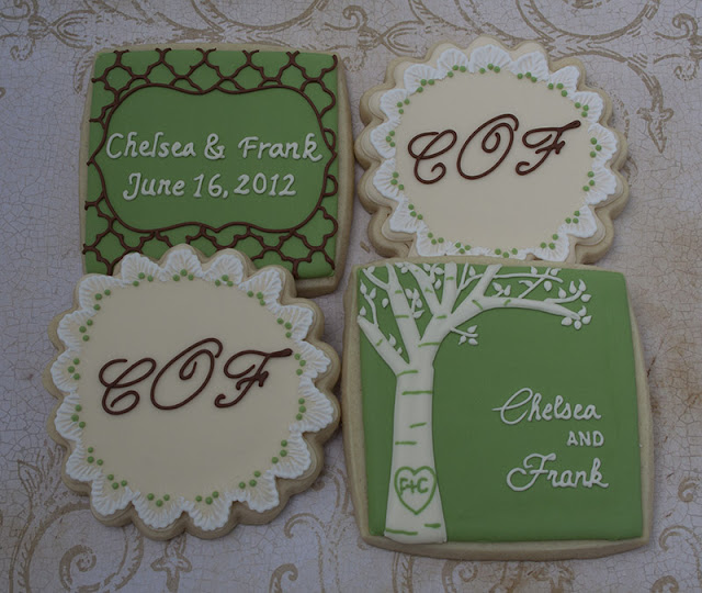 Vintage bridal shower cookies