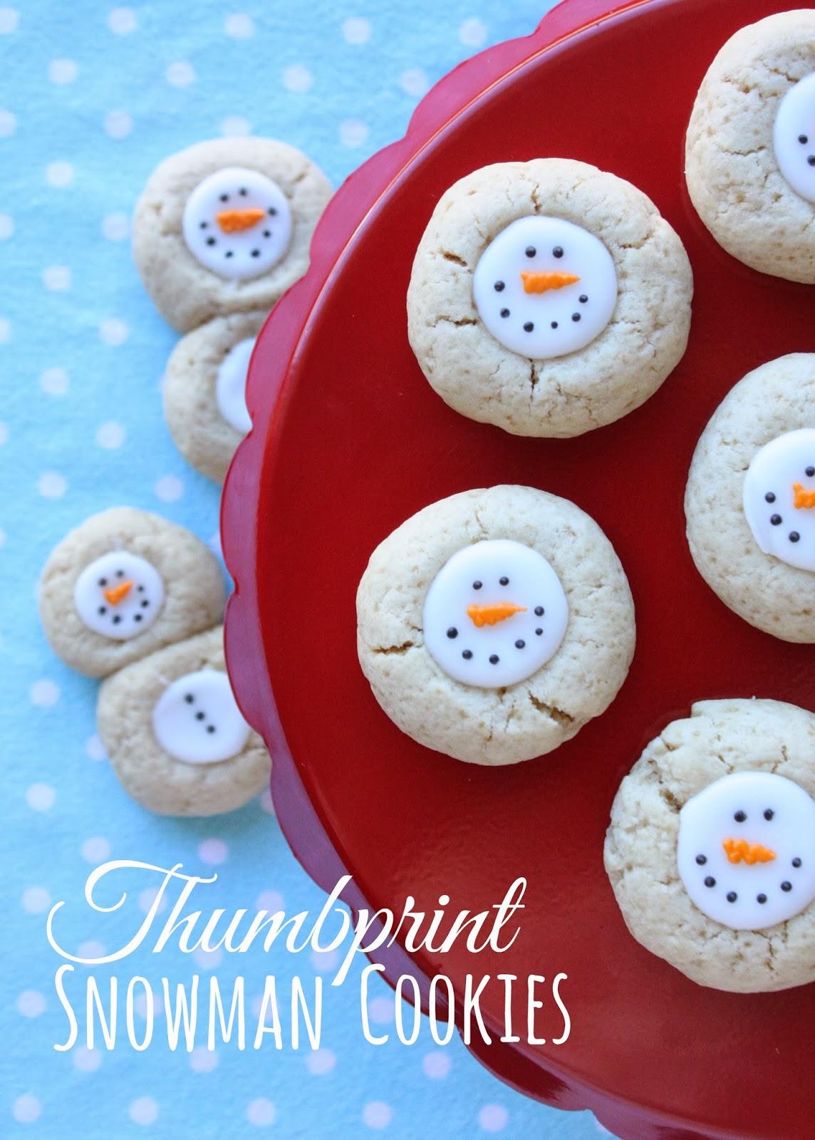 Thumbprint Snowman Cookies Recipe In Katrina S Kitchen