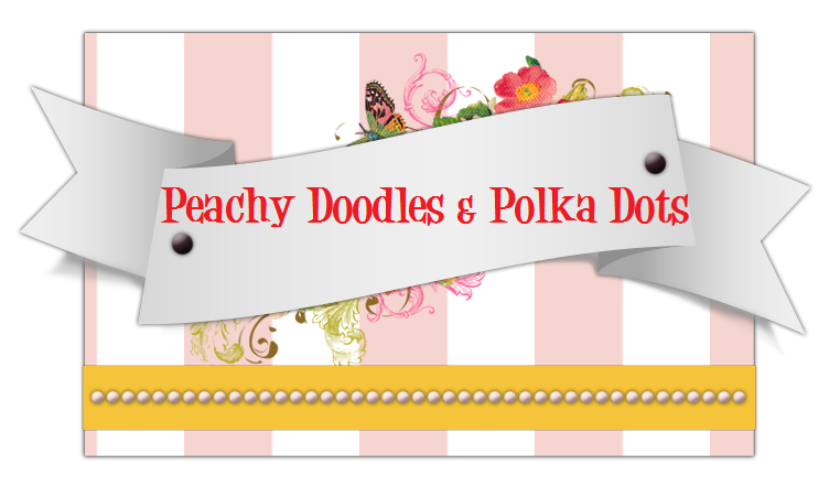 Peachy Doodles and Polka Dots