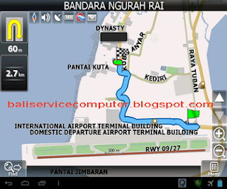 gps android map bali indonesia