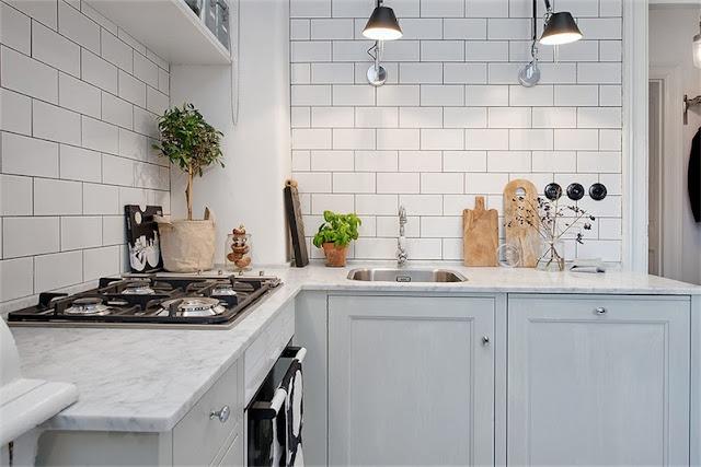 cocina escandinava blanca