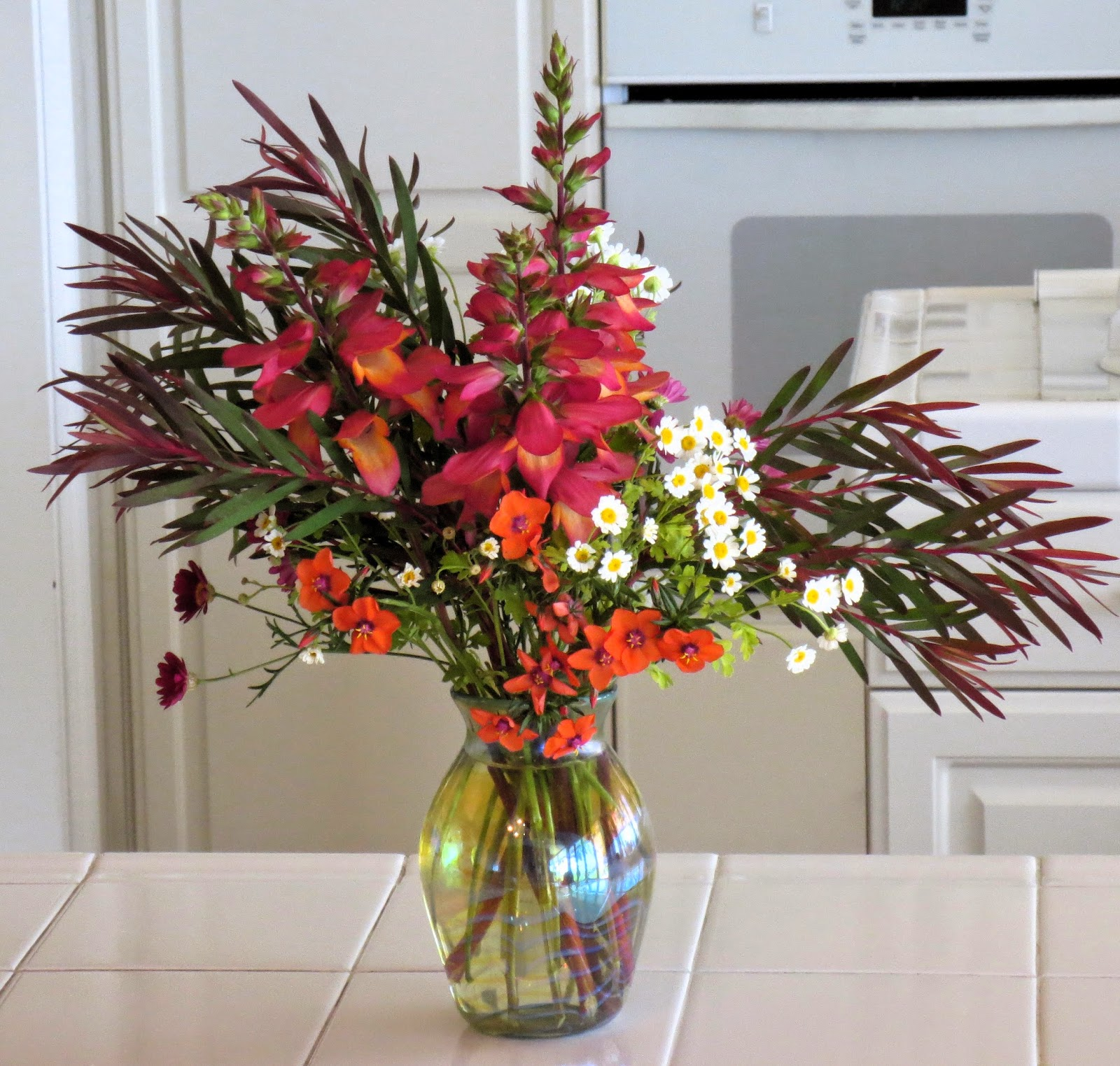 Late to the Garden Party: In a Vase on Monday: A Lopsided Arrangement