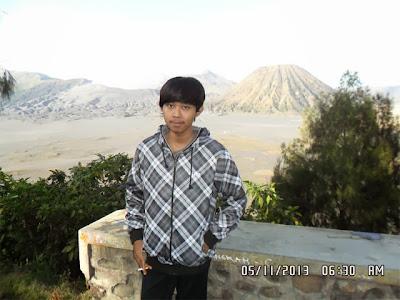 Ahmad Wafa Aminudin di Gunung Bromo