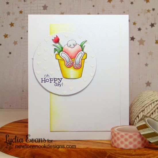 Easter Bunny Butt Card by Lydia Evans | Bunny Hop Stamp set by Newton's Nook Designs