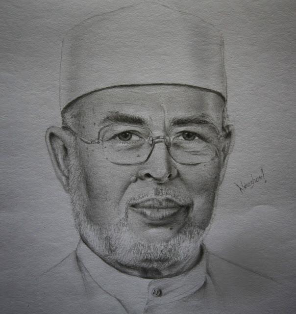 lukisan potret dr harun din