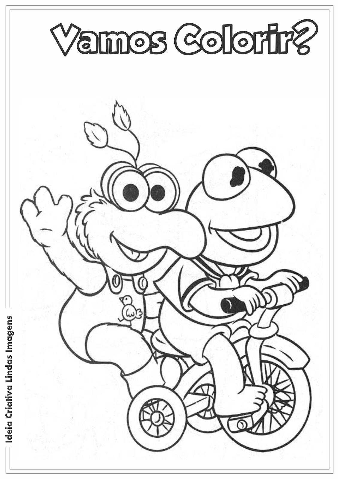 Os Muppets bebês desenho para colorir