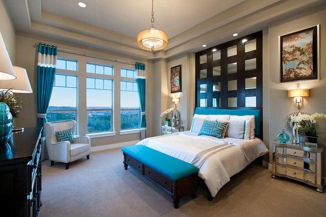 chambre marron chocolat et bleu turquoise deco chambre bleu turquoise - Salon Bleu Turquoise Et Marron