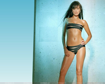 Holly Valance Wallpaper in Bikini