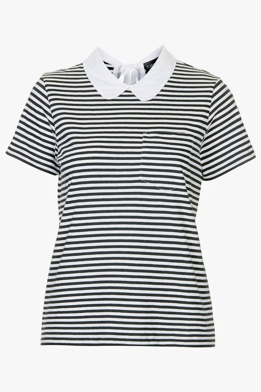 striped collar top