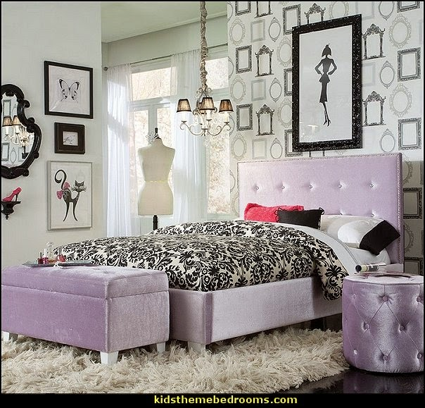 fashion theme bedroom ideas decorating fashionista style theme