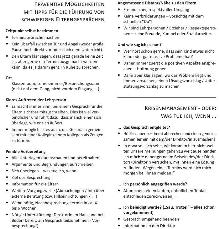 gerhard unterkofler: mittwochsinfo: tipps für elterngespräche