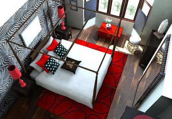 Red Bedroom Design and Decoration Ideas 2015-2016