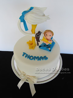 baptism baby stork cake