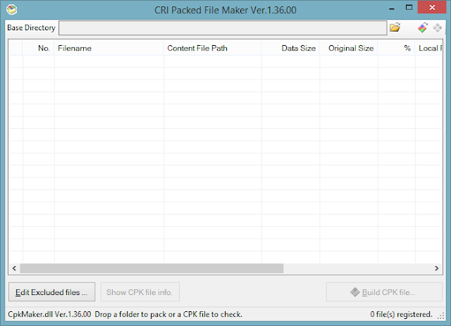 para criação de CPK - Cri Packed File Maker 1.36 | Tuga Vicio Blog