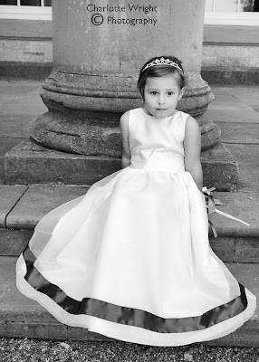 Flowergirl dress photoshoot for Village Brides the Long Compton, Warwickshire