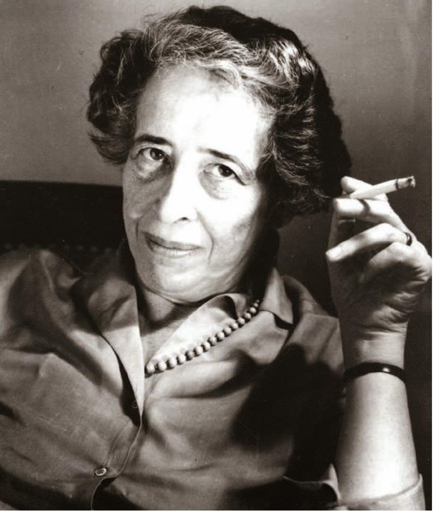 """""""C'est dans le vide de la pensée que s'inscrit le mal.""""  Hannah Arendt"""