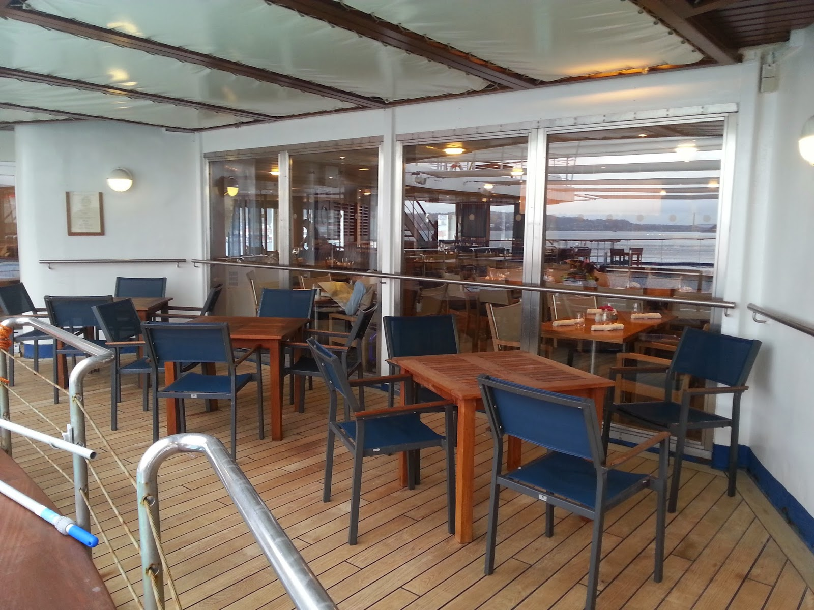 Cruise Ship Saga Pearl II - Verandah Restaurant Outdoor Seating
