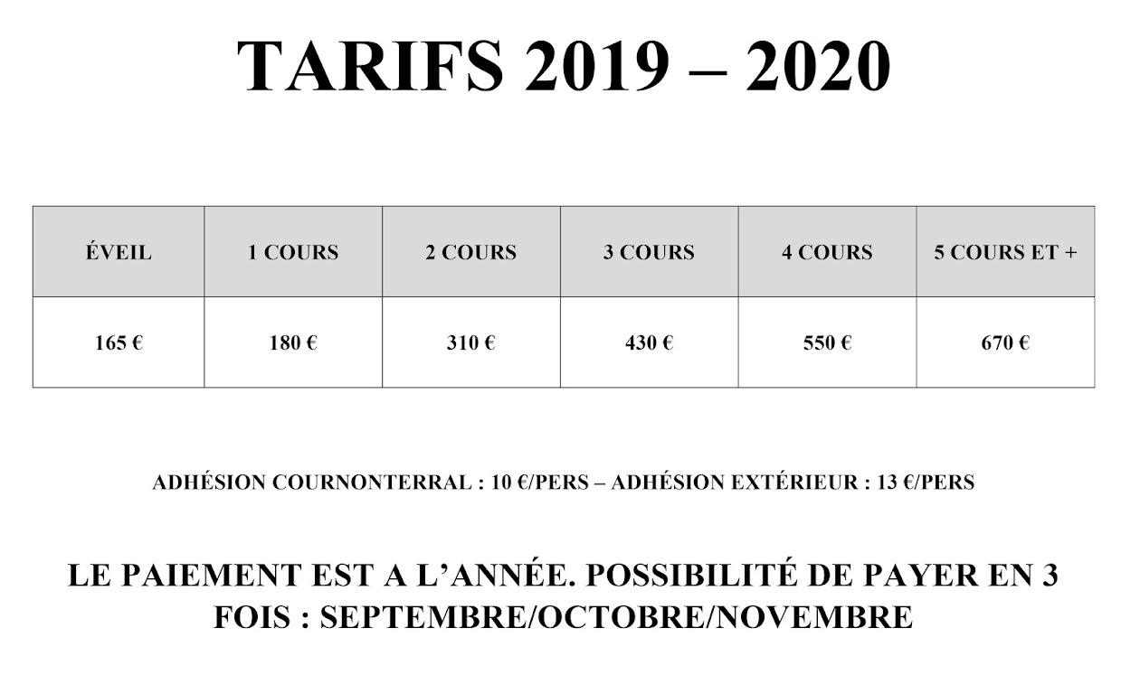 TARIF 2019-2020