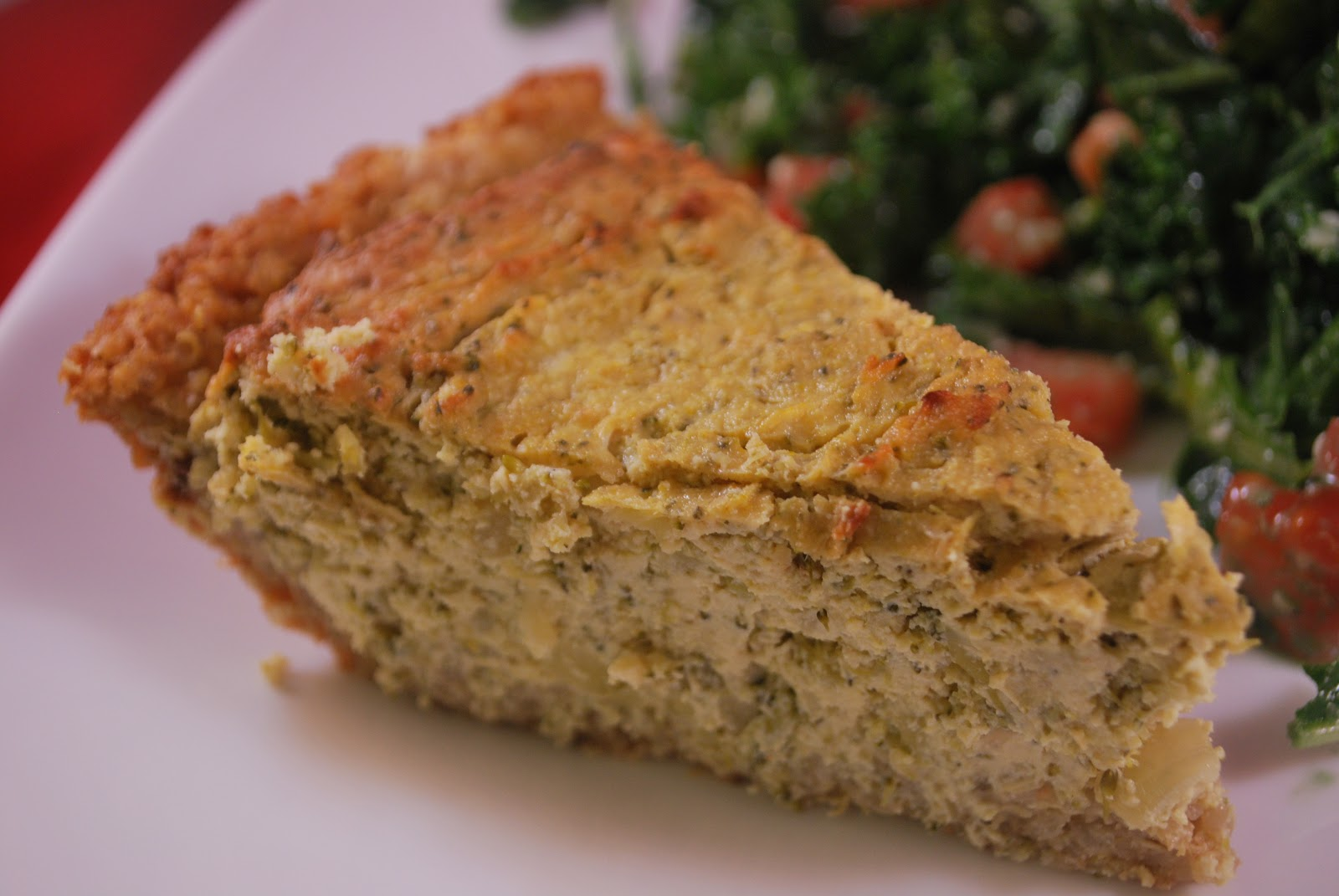 ... But I finally settled on this Tofu-Broccoli Quiche with Quinoa Crust