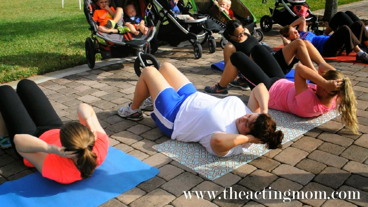 Fit4Mom's Stroller Stride workout with The Acting Mom