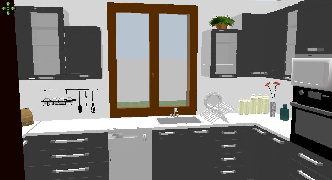 Budujemy  Słodką Zosię  ) Projekt kuchni -> Projekt Kuchni Z Niskim Oknem