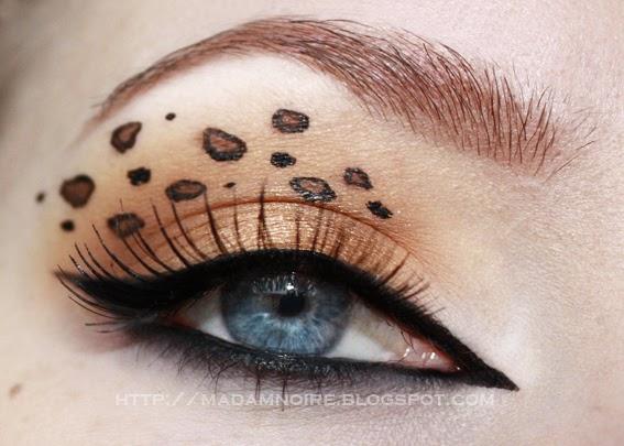 Madam Noire Makeup Studio: Tutorial: Leopard print eyes