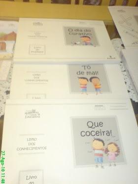 Livros maravilhosos...Nossas crianças se transformaram em contadores de histórias excelentes!!!