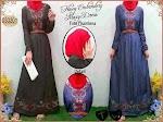 Gamis Denim Bordir 033201