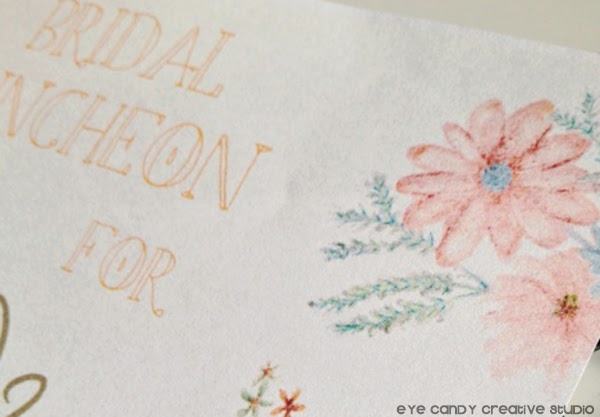 watercolor invite, bridal shower invite, hand illustration, watercolor, flowers