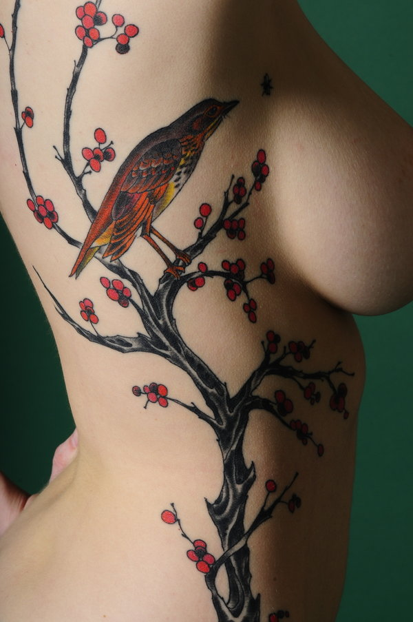 Cherry Blossoms For Tattoo Girls