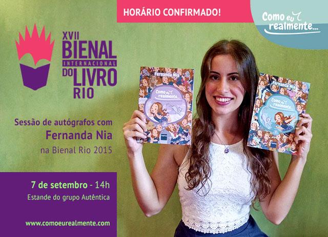 Como eu realmente Volume 2 Fernanda Nia Editora Nemo Autógrafo Bienal do Livro RJ