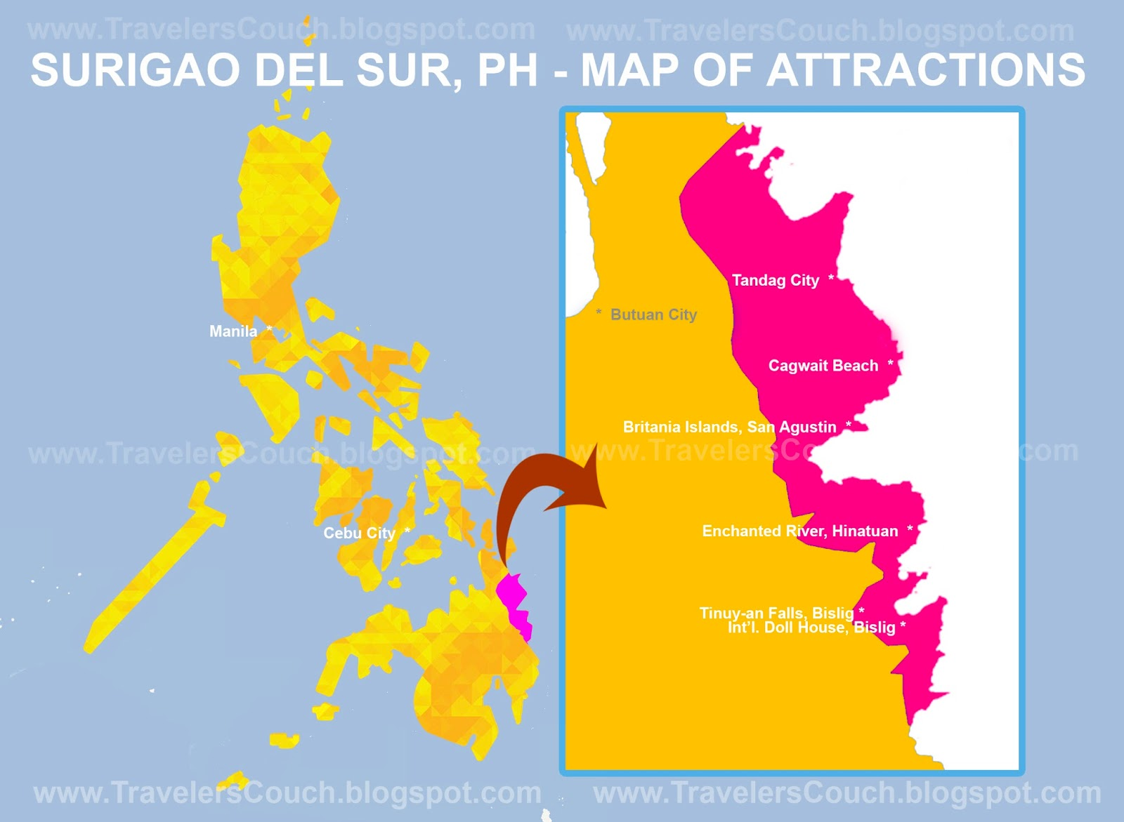 A Guide to Surigao del Sur Philippines Enchanted River Tinuyan