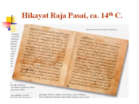 Karya Agung Melayu کاريا اݢوڠ ملايو Hikayat Raja Pasai