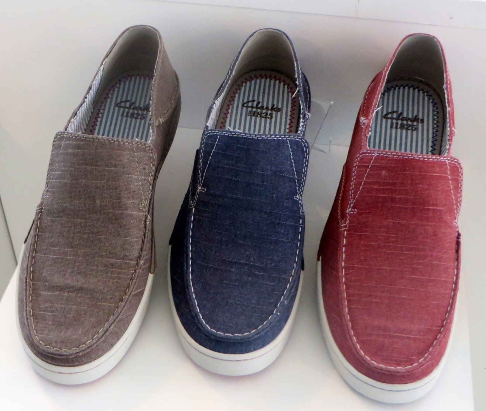 denim canvas uppers are winners-Slaten Free-slip-ons with nautical striped  footbed
