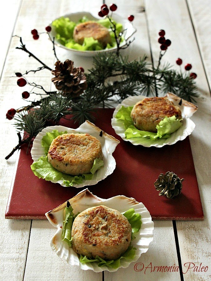 Mini Burgers di Salmone Selvaggio e Patate Dolci Americane di Armonia Paleo