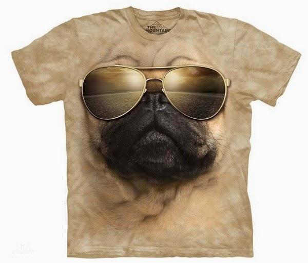 Camiseta Perro Carlino Aviador