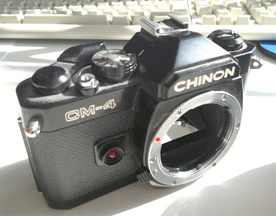 Chinon CM-4 camera house