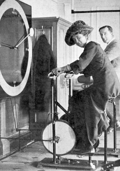 Documentary Photographs of Titanic: Lawrence Beesley in The Gymnasium