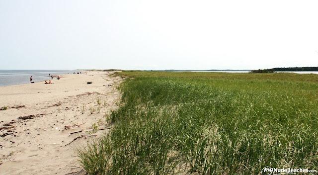 Kellys beach, nude beach (New Brunswick, Canada)