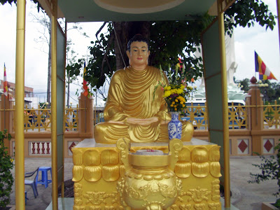 Statue of Buddha in the Vinh Trang Pagoda