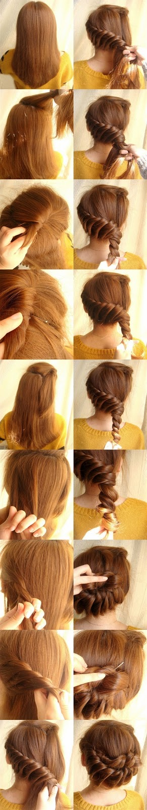 Cool Easy Hairstyles To Do At Home Step By Step Simple Diy Braided Bun
