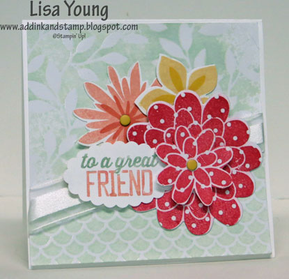 Stampin' Up! card made with Flower Patch stamp set. Uses Irresistibly Yours paper
