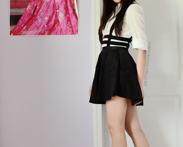 I love the style and fit of this caged cutout suspender skirt, which you can get for just $5.30 at Dresslink.